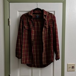 Red & Brown Flannel Shirt